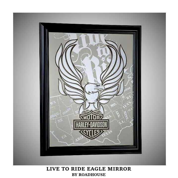 Live To Ride Eagle Mirror Harley Davidson Bologna